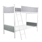 [US Warehouse] Household Twin Bunk Bed with Ladder (Grey)