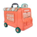 [US Warehouse] 2 in 1 Children Simulation Multifunctional Tableware Cart Pretend Play Toy Set