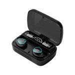 M10 Bluetooth 5.1 TWS Digital Display Wireless Bluetooth Earphone with Charging Box, Support Touch & Siri & Battery Display(Black)