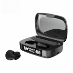 C10 Bluetooth 5.1 TWS Digital Display Wireless Bluetooth Earphone with Charging Box, Support Touch & Siri & Battery Display(Black)