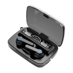 M19 Bluetooth 5.1 TWS Digital Display Wireless Bluetooth Earphone with Charging Box, Support Touch & Siri & Battery Display (Black)