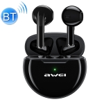 awei T17 Bluetooth V5.0 Ture Wireless Sports TWS Headset with Charging Case(Black)
