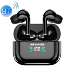 awei T29P Bluetooth V5.0 LED Digital Display Ture Wireless Sports IPX4 Waterproof TWS Headset with Charging Case