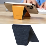 ROCK RPH0968 PU Leather Magnetic Magic Card-Holder Stand for iPhone 12 Series (Blue)