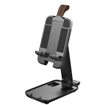 Luggage-shaped Retractable Folding Desktop Stand for Mobile Phones and Tablets Under 13 inch (Black)