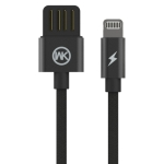 WK WDC-055 2.4A 8 Pin Babylon Aluminum Alloy Charging Data Cable, Length: 1m(Black)