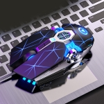 YINDIAO 3200DPI 4-modes Adjustable 7-keys RGB Light Wired Gaming Mechanical Mouse, Style: Silent Version (Black)