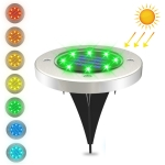 8 LEDs Colorful Dimmable Solar Outdoor Garden Lawn Light Sensor Type Intelligent Light Control Buried Light