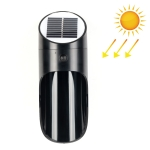 Solar Outdoor LED Induction Wall Light Night Light Radar Human Body Induction Lighting, Warm Light (Black)