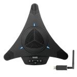 YANS YS-M21W USB Mini Port Video Conference Omnidirectional Microphone (Black)