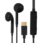 HAMTOD H11 Wired In Ear USB-C / Type-C Noise Cancelling Earphones with Line Control & Mic, Length: 1.2m(Black)
