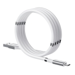 REMAX RC-125a 2.1A USB to USB-C / Type-C Magnetic Data Cable, Cable Length: 1m (White)