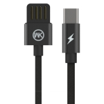 WK WDC-055 2.4A Type-C / USB-C Babylon Aluminum Alloy Charging Data Cable, Length: 1m (Black)