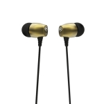 WK Wi120 3.5mm Elbow Plug Wired Stereo Music Earphone, Support Call & Microphone, Cable Length: 1.2m (Gold)