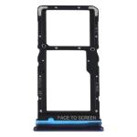 SIM Card Tray + SIM Card Tray / Micro SD Card Tray for Xiaomi Redmi Note 9 Pro 5G M2007J17C (Blue)