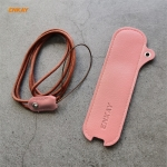 For JOUZ C Hat-Prince ENKAY Litchi Texture Full Surrounded PU Leather Case with Nylon Lanyard(Pink)