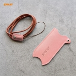 For JOUZ 20 Hat-Prince ENKAY Litchi Texture Half Surrounded PU Leather Case with Nylon Lanyard(Pink)