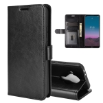 For Nokia 5.4 R64 Texture Single Horizontal Flip Protective Case with Holder & Card Slots & Wallet& Photo Frame(Black)