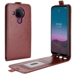For Nokia 5.4 R64 Texture Single Vertical Flip Leather Protective Case with Card Slots & Photo Frame(Brown)