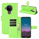 For Nokia 5.4 Litchi Texture Horizontal Flip Protective Case with Holder & Card Slots & Wallet(Green)