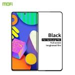 For Samsung Galaxy F62 MOFI 9H 2.5D Full Screen Tempered Glass Film(Black)