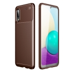 For Samsung  Galaxy Xcover 5 Carbon Fiber Texture Shockproof TPU Case(Brown)