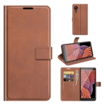 For Galaxy Xcover 5 / Xcover 5S Retro Calf Pattern Buckle Horizontal Flip Leather Case with Holder & Card Slots & Wallet(Light Brown)