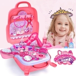 Educational Toys Children Simulation Pretend Play House Toys Kit Backpack(Dressing)