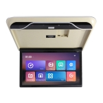 19 Inch Car TV With Android 9.0 Rear Entertainment System HD Ceiling Display(Beige)