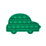 5 PCS Child Mental Arithmetic Desktop Educational Toys Silicone Pressing Board Game, Style: Car (Green)