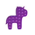 5 PCS Child Mental Arithmetic Desktop Educational Toys Silicone Pressing Board Game, Style: Pony (Purple)
