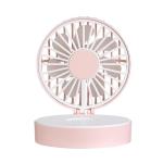 USB Mini Handheld Vanity Mirror Fan(Pink)