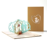 2 PCS Mother Day 3D Three-Dimensional Greeting Card Me And Mom Small Card