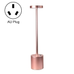 JB-TD003 I-Shaped Table Lamp Creative Decoration Retro Dining Room Bar Table Lamp, Specification: AU Plug(Rose Gold)