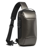 BANGE Men Fashion Chest Bag Carbon Brazing Dimensional Waterproof Messenger Bag(Golden)