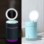 K005 Portable Hydrating LED Fill Light Makeup Mirror USB Mini Humidifier(Blue)