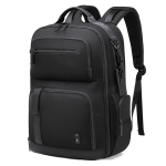 BANGE BG-G61 Men Large Capacity Business Shoulders Bag Oxford Cloth Waterproof Travel Computer Backpack(Black)