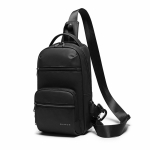 BANGE BG-8592 Men Chest Bag USB Multifunctional Leisure Messenger Bag with External USB Charging Port(Black)