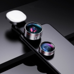 Wide Angle + Macro + Fill Light Mobile Phone Lens Professional Shooting External HD Camera Set