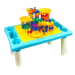 Multifunctional Building Table Learning Toy Puzzle Assembling Toy For Children, Style: Table +76 Blocks