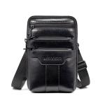 WEIXIER 8612 Men Shoulder Bag Waist Bag Credentials Storage Sports Leisure Multi-functional Mobile Phone Bag(Black)