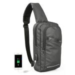 KINGSONS KS3186 Chest Bag Anti-Theft Small Backpack Men Messenger Bag(Black)