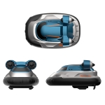 Children 2.4G Wireless Mini Remote Control Boat Toy Electric Hovercraft Water Model(Blue)