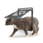 Pet Supplies Dog Paw Print Door Bite-Proof Small Dog Cat Screen Window Door Cat And Dog Door(Black)