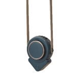 H3 Mini Lazy USB Hanging Neck Fan Student Outdoor Leafless Triangle Fan(Military Green)