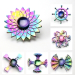 4 PCS Colorful Zinc Alloy Finger Tip Gyro Finger Gyro Anti-Pressure Toys, Random Styles Delivery