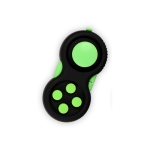 3 PCS Decompression Handle Toys Novelty Finger Sports Handle Toy, Colour: Black Green (with Color Box Lanyard)
