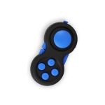 3 PCS Decompression Handle Toys Novelty Finger Sports Handle Toy, Colour: Black Blue (with Color Box Lanyard)