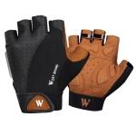 WEST BIKING YP0211196 Half-Finger Shock-Absorbing Anti-Skid Motorcycle Bike Gloves Riding Equipment, Size: M(Black Yellow)