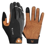 WEST BIKING YP0211197 Full-Finger Shock-Absorbing Anti-Skid Motorcycle Bike Gloves Riding Equipment, Size: M(Black Yellow)